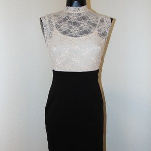 Black & White Lace Design Dress by Forever 21